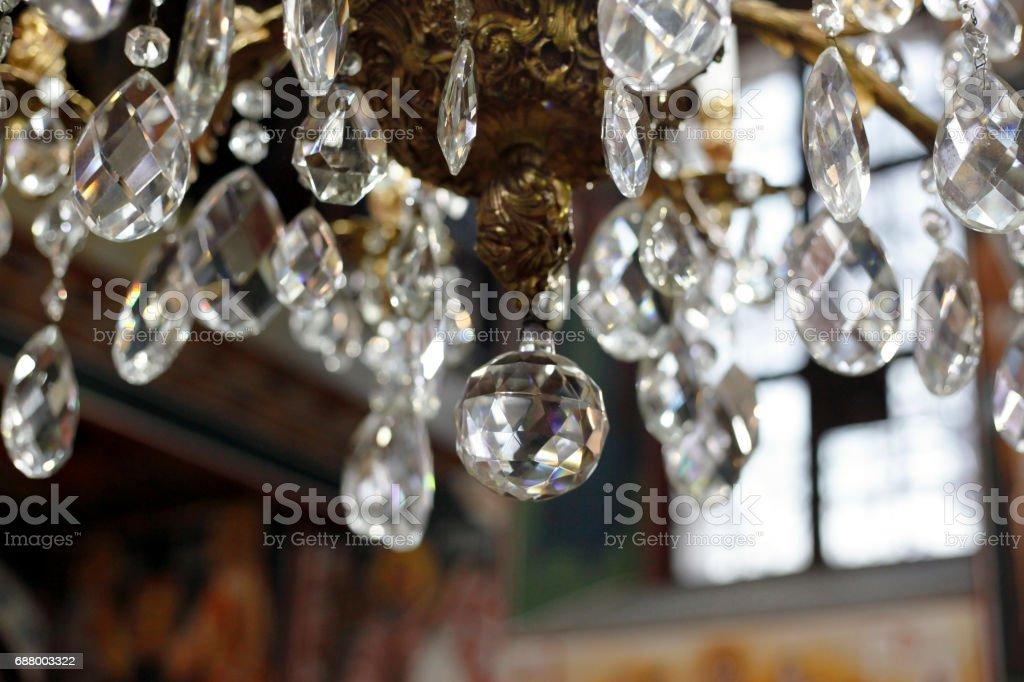 Chrystal chandelier stock photo