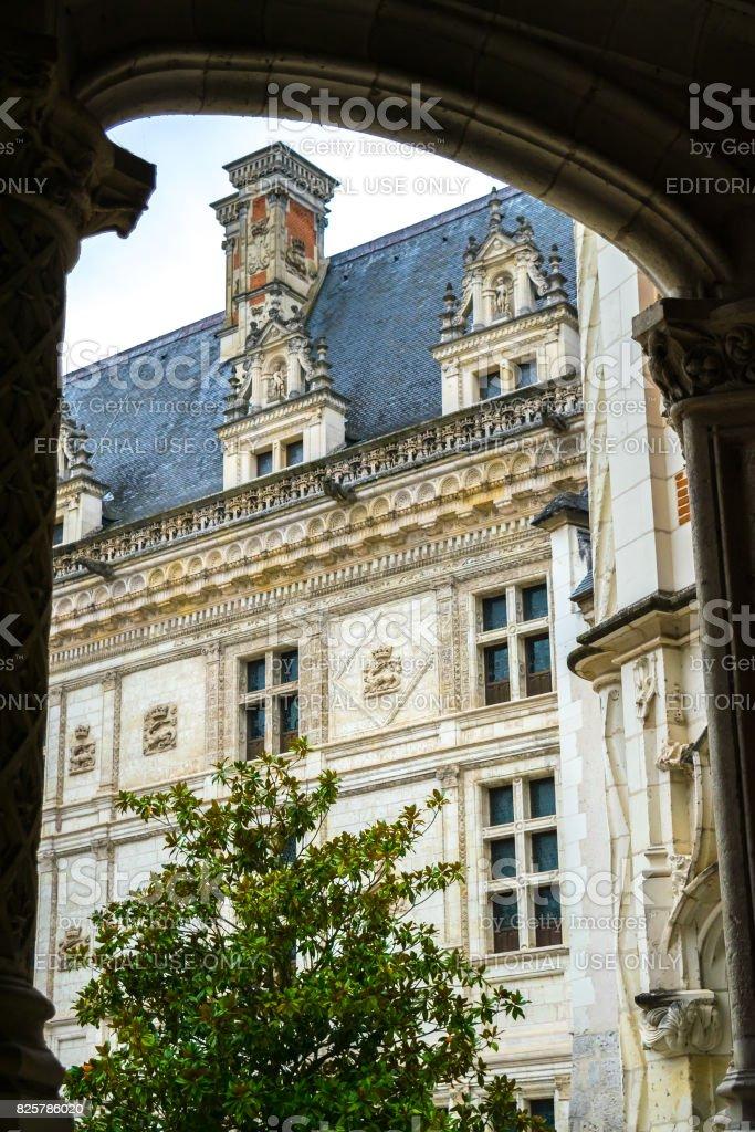 Château de Blois facade from inside. stock photo