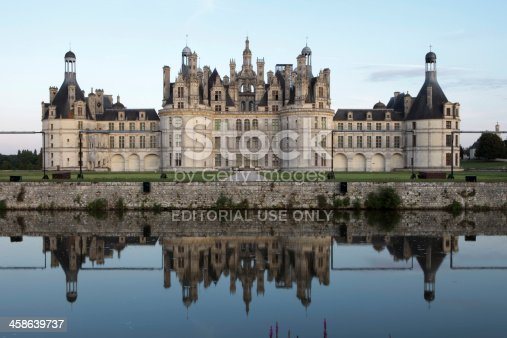 Chambord, France - August 7, 2009: Chateau de Chambord (1519-1547), one of the most recognizable castles in the world