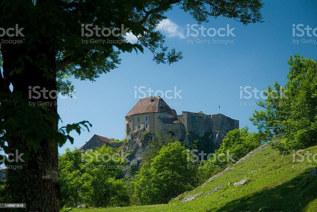 Château de Joux stock photo