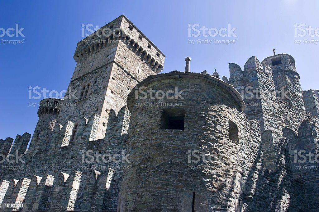 Castello di Fenis royalty-free stock photo