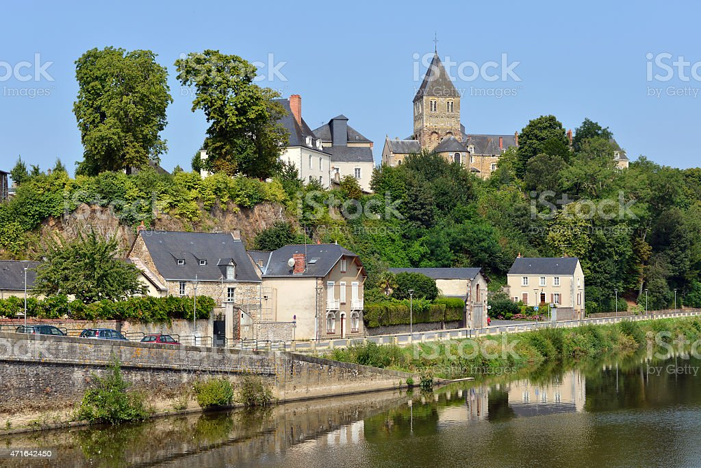 Château-Gontier in France stock photo