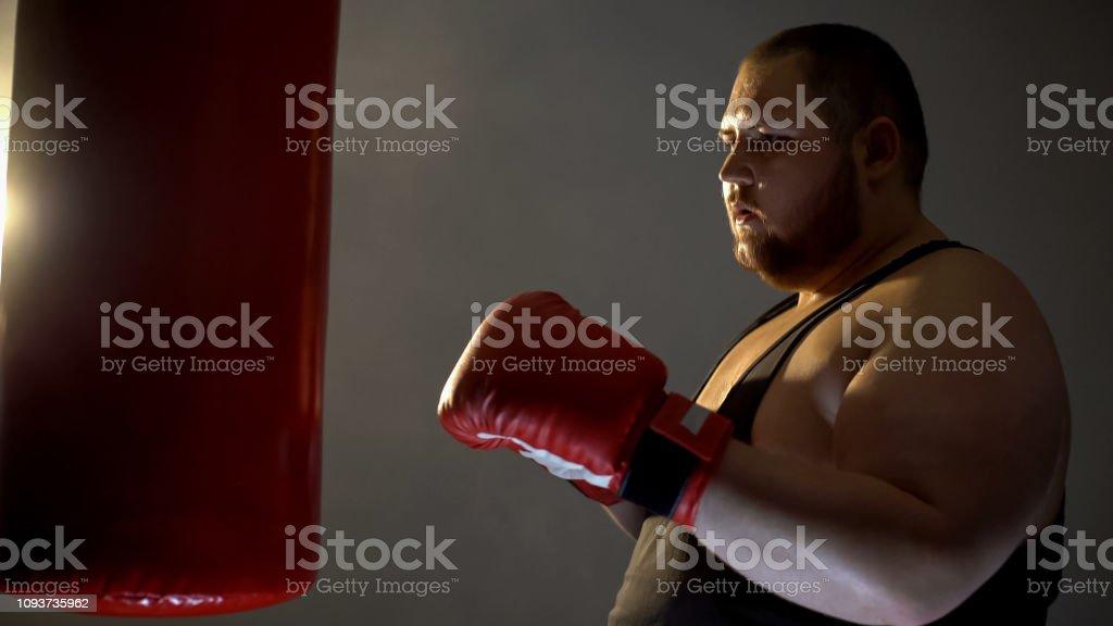 Chubby Sportsman Boxing Punching Bag Sport Training Program