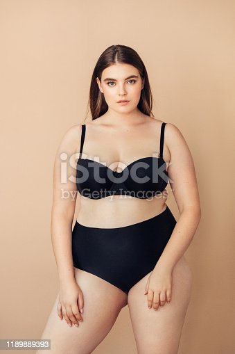 Chubby young woman