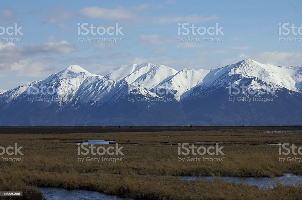 Chucagh Range over Potter's Marsh royalty-free stock photo