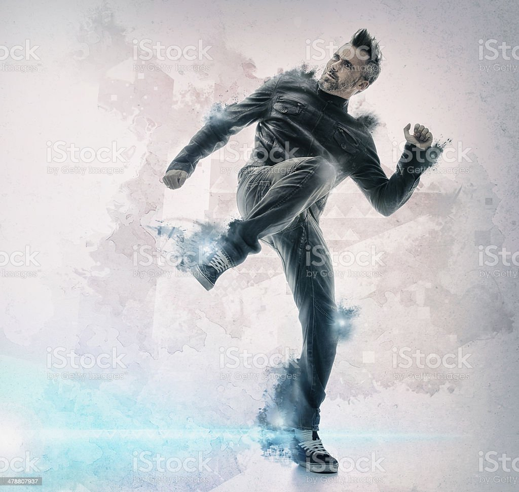 Chuck Norris has nothing on him! stock photo