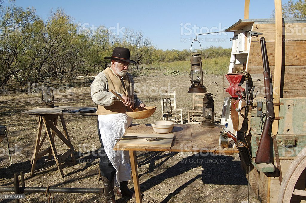 Chuck Wagon Cook stock photo