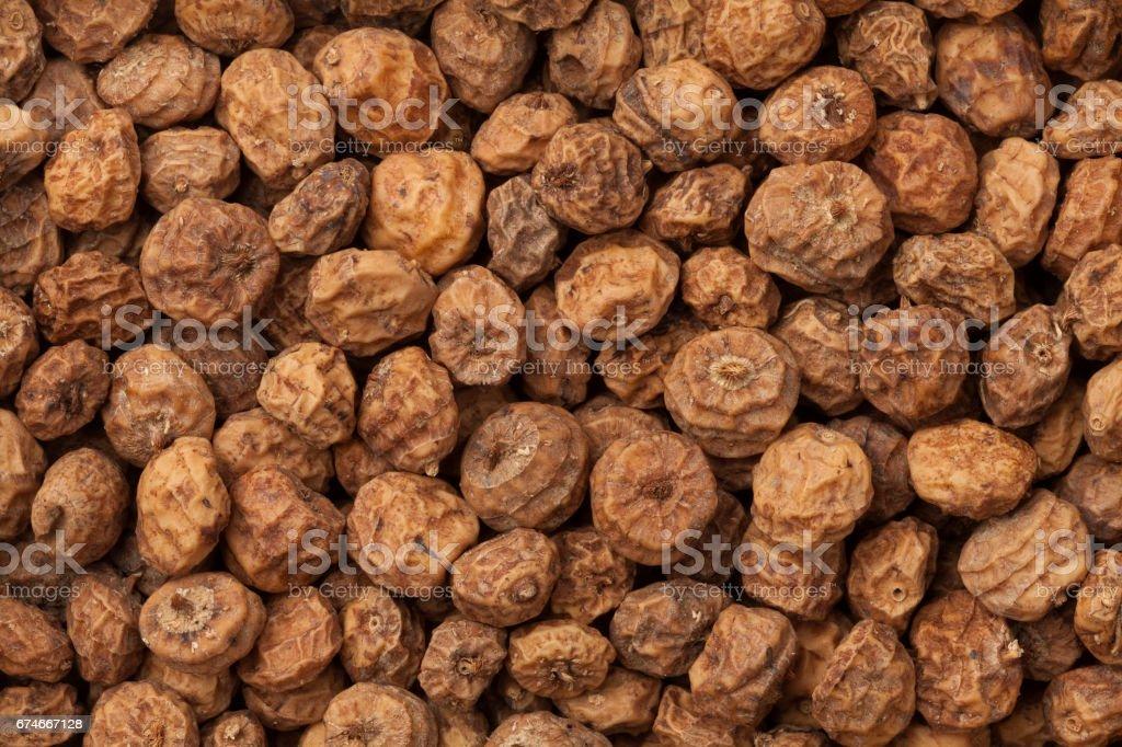 Chufa nuts full frame stock photo