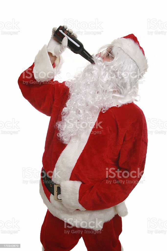 Chug It Santa! royalty-free stock photo
