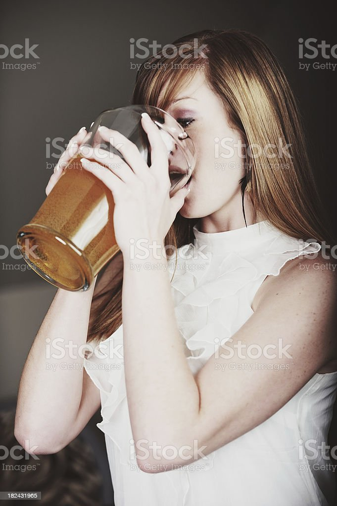 Chug! stock photo