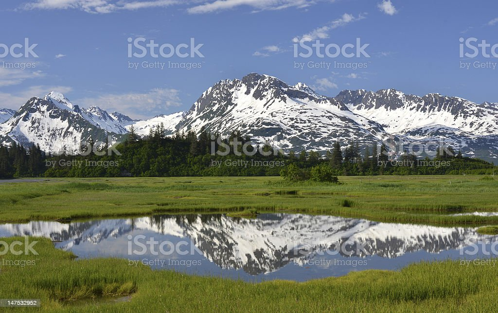 Chugach Mountains, Alaska stock photo