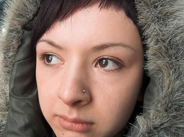 Chukchi woman stock photo