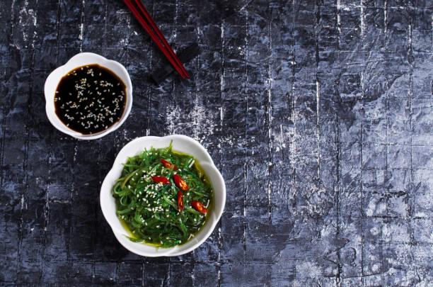 Chukka salad from seaweed stock photo