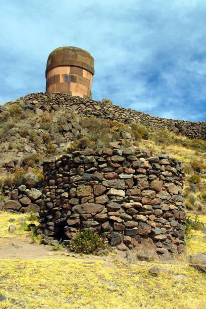 Chulpas, Gedenkstätten für Colla Herrscher NearLake Titicacasee, Peru. – Foto