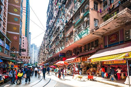 Chun Yeung Street market in Hong Kong