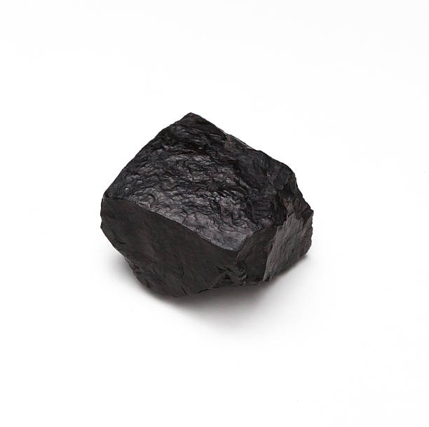 chunk of coal on a white background - bumpy stock pictures, royalty-free photos & images