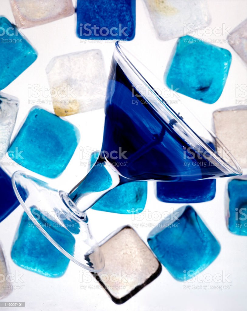 Chunks of glass royalty-free stock photo