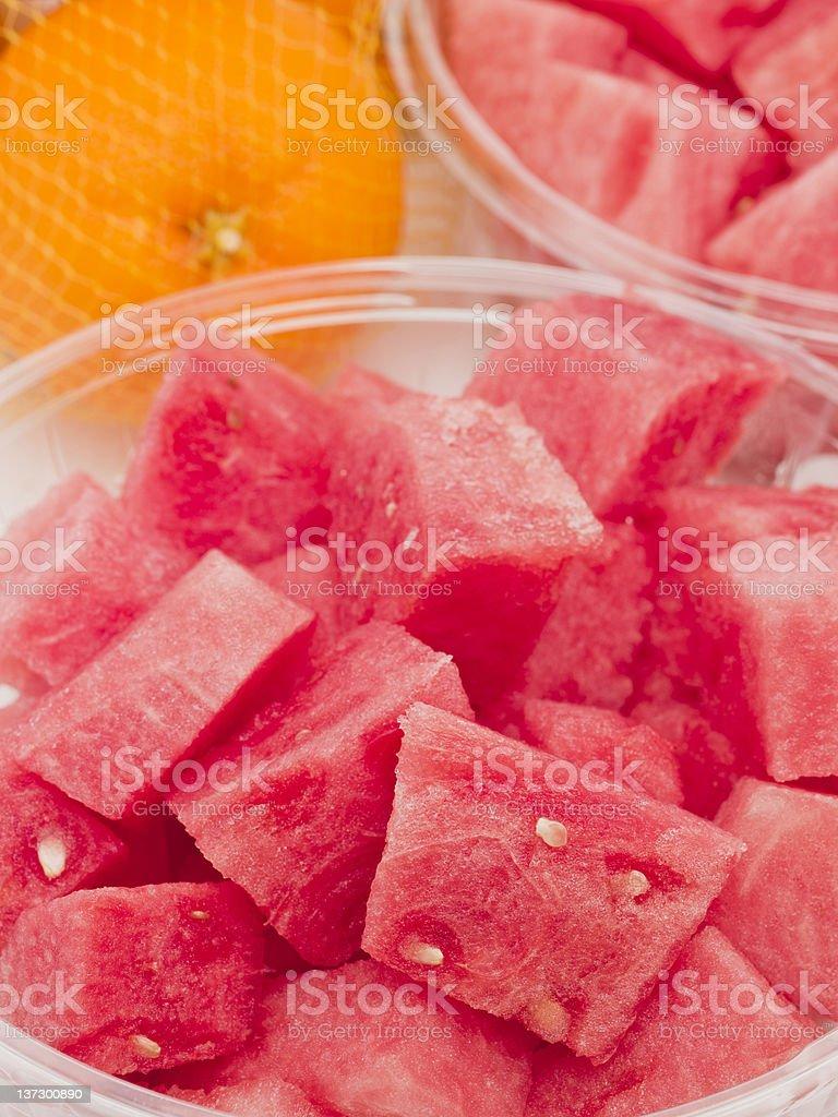 Chunks of Watermelon royalty-free stock photo