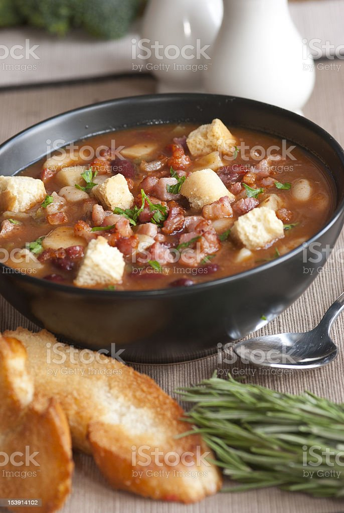 Chunky chilli meal soup royalty-free stock photo