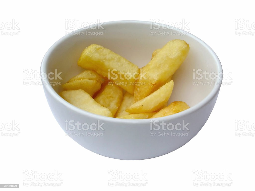 Chunky chips royalty-free stock photo