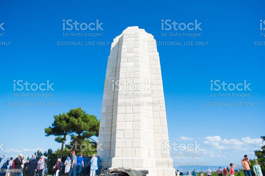 Chunuk Bair nouvelle Zeland Memorial en blanche spongieuse Bayiri, Gallipoli. - Photo