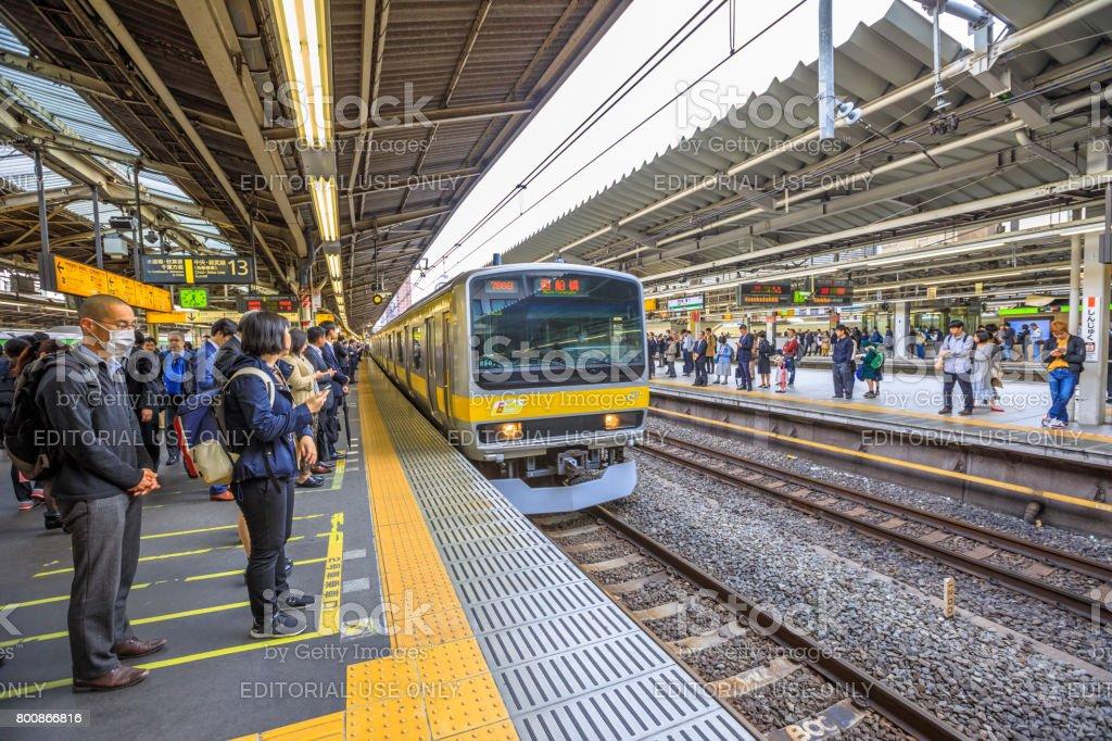 Chuo Line for Akihabara stock photo