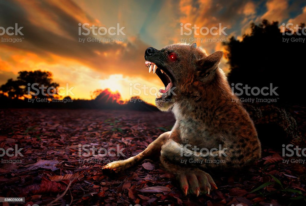 Chupacabra Graphic Arts Imagination from Photographic Digital Manipulation stock photo