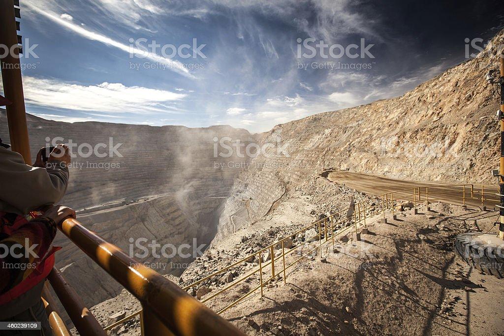Chuquicamata open-pit mine stock photo