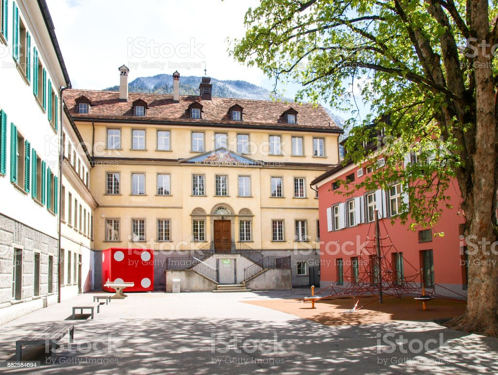 Chur downtown Swiss agglomeration stock photo