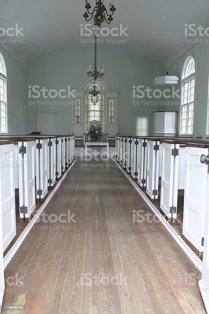 Igreja aisle - foto de acervo