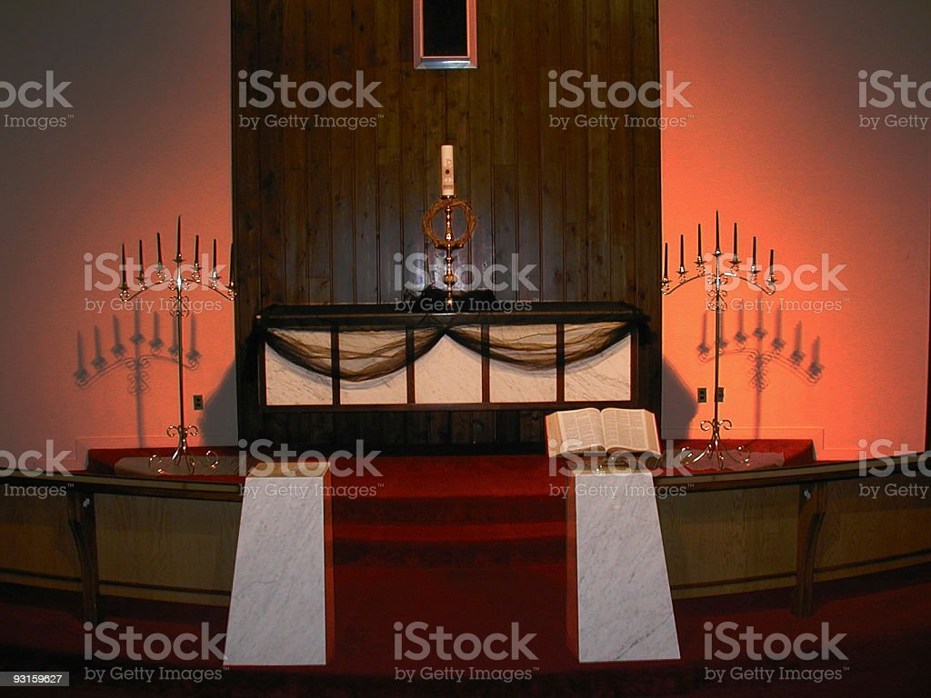 Church Altar Closeup royalty-free stock photo