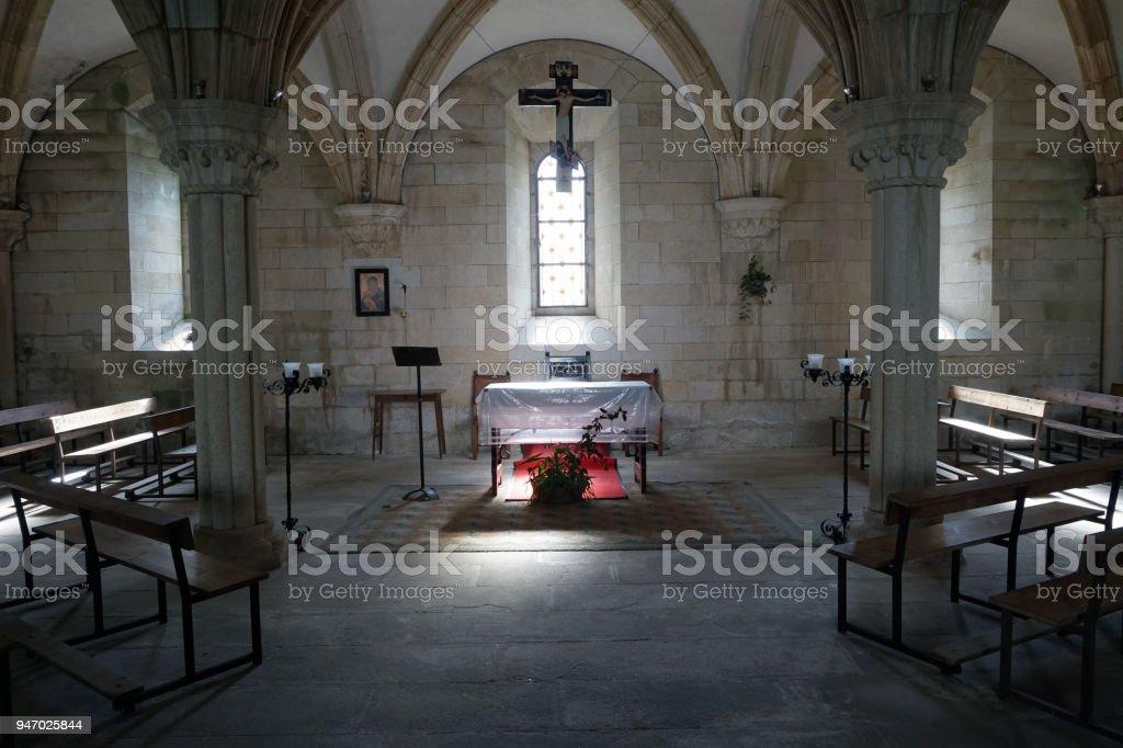 Church altar. stock photo
