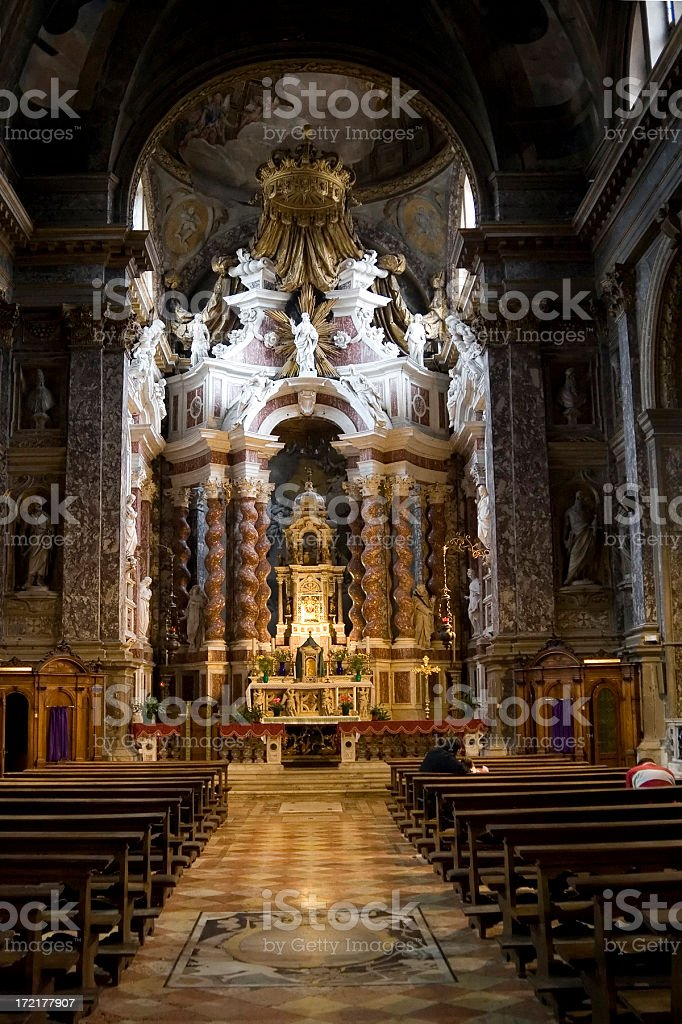 Church altar, Venice royalty-free stock photo
