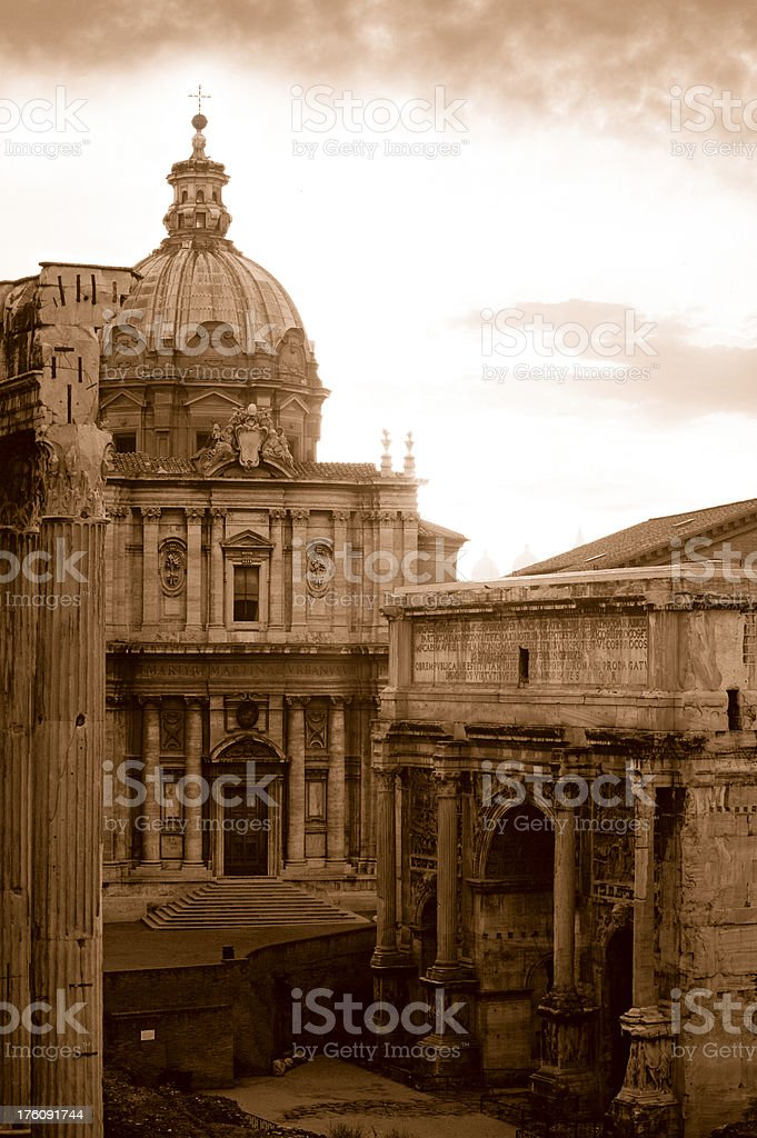 Church and Arch royalty-free stock photo