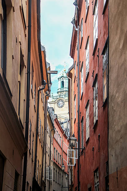 church and buildings in old town stockholm – Foto