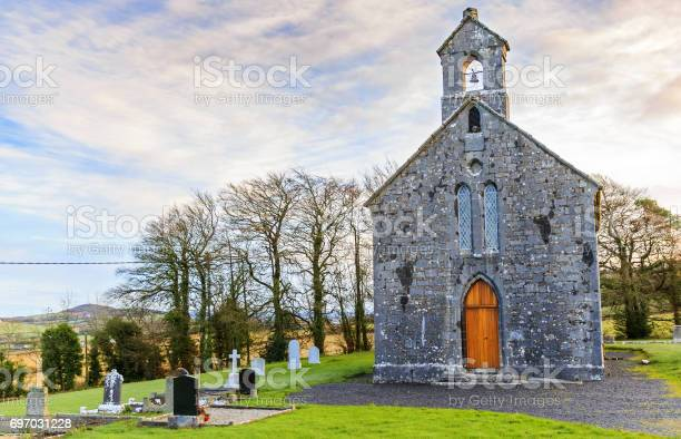 Photo of an irish churchyard and cemetery