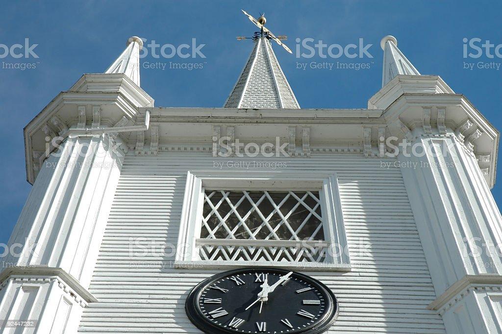 Church and Clock royalty-free stock photo