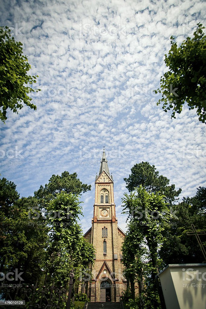 Church and cloudy sky royalty-free stock photo