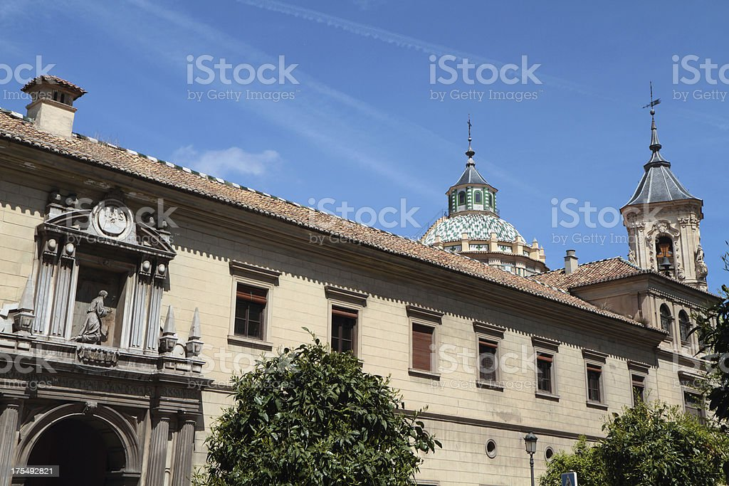 Church and Hopsital of San Juan de Dios, Granada, Spain stock photo