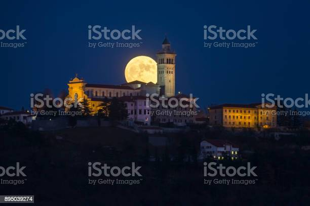 Photo of Church and Moon