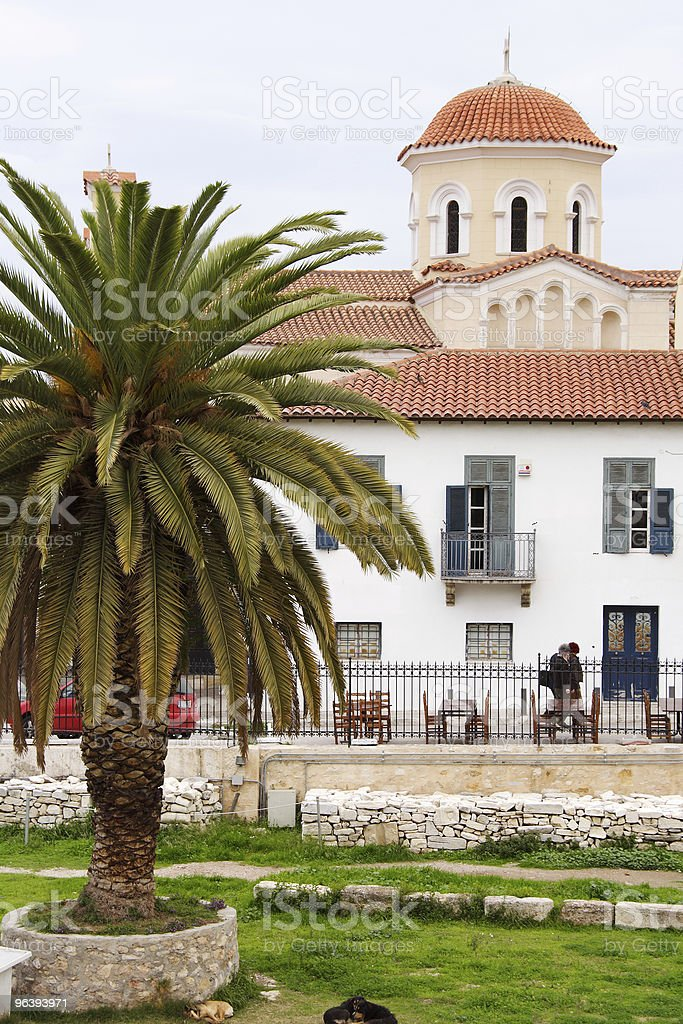 Church and Old House - Royalty-free Architectural Dome Stock Photo