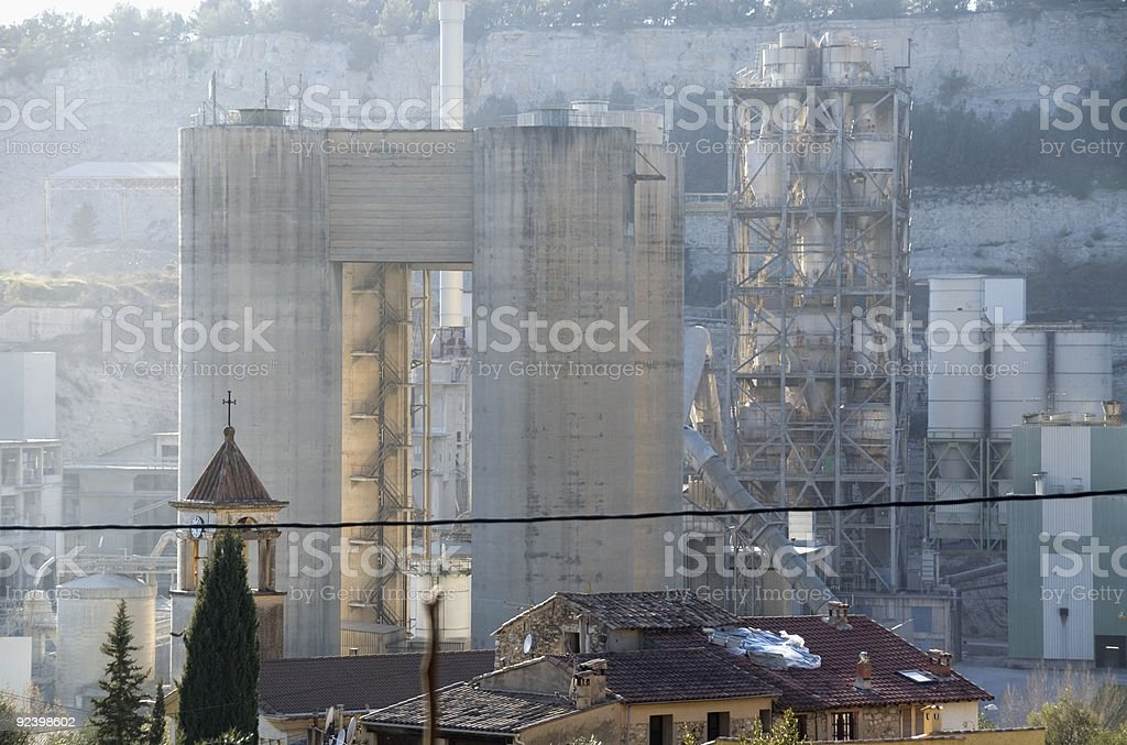 Church and quarry royalty-free stock photo
