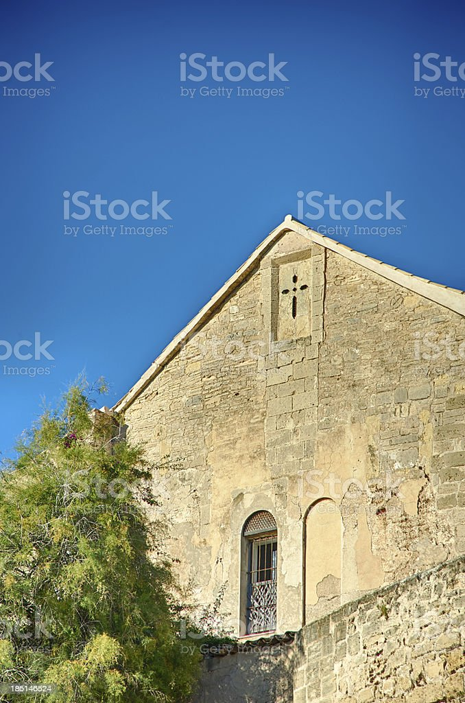 Church and sky in Palma royalty-free stock photo