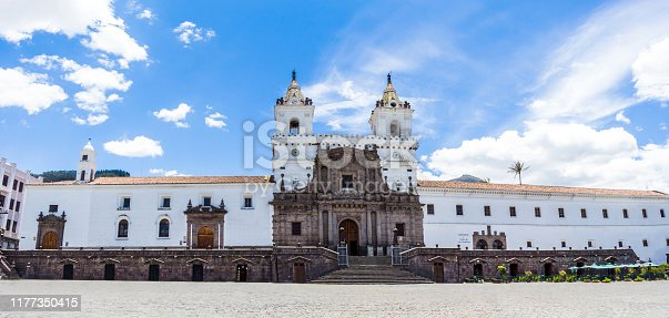 istock Church and Square of San Francisco located in the historic center of Quito capital of Ecuador 1177350415