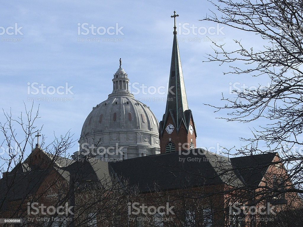 Church and State stock photo