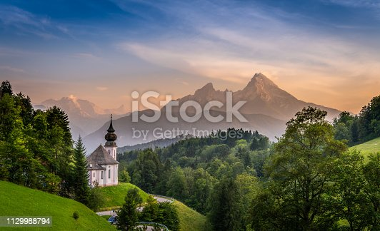 istock Church and the Mountain 1129988794