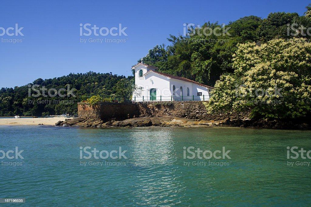 Church at a beach stock photo