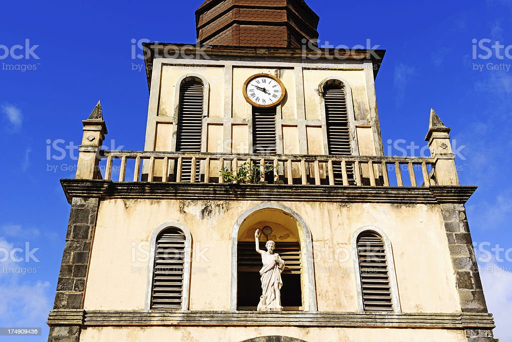 Church at Basse Pointe in Martinique royalty-free stock photo