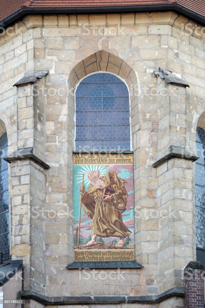 Church at Cham, Germany stock photo