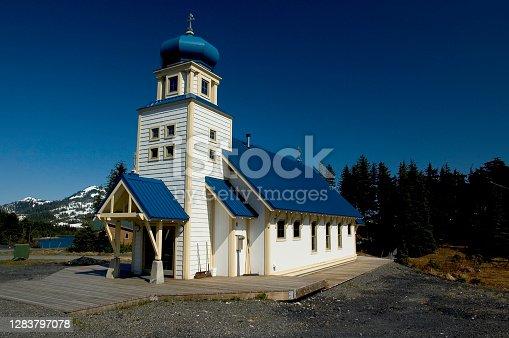 Church at Chenega (the new town) on Evans Island, Prince William Sound, Alaska